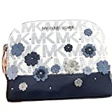 MICHAEL Michael Kors Women's EMMY Travel Pouch Make up Case Bag (Navy)