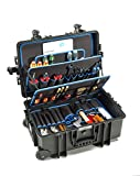 B&W International Jumbo 6700 Outdoor Tool Case with Pocket Tool Boards, Black