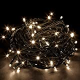 JnDee™ Safe Voltage 100/200/300/400/500 Bright LEDs 10M/20M/30M/40M/50M String Fairy Lights for Christmas Tree Party Wedding Events (8 Operation Modes) (400 LED 40M, Warm White)