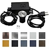 Sink Top Air Switch Kit, Garbage Disposal Part Built-Out Adapter Switch (SHORT BRUSHED STAINLESS STEEL BUTTON) by CLEESINK