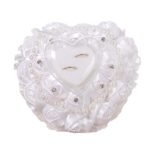Caja para anillos Corazón Xianjun, caja de anillos blancas ...