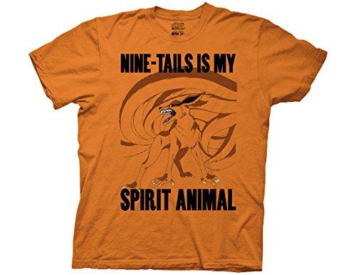 Ripple Junction Naruto - Shippuden Nine-Tails is My Spirit Animal Adult T-Shirt Large Orange