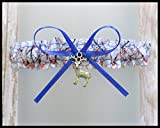 Sexy Camouflage White AP Royal Blue Satin Toss Demi Garter - Deer Charm