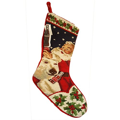 Coca Cola Stocking - Dillards Coca-Cola Handcrafted Embroidered 22