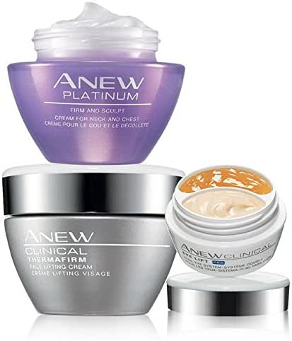 Defy Gravity! Lift and firm your face, neck, and chest with Avon Anew Platinum Clinical Set