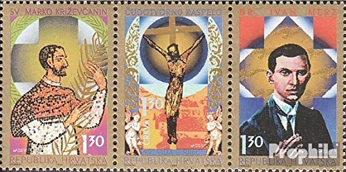 Croatia 363-365 Triple Strip (Complete.Issue.) 1996 Katholisches Croatia (Stamps for Collectors) Religion