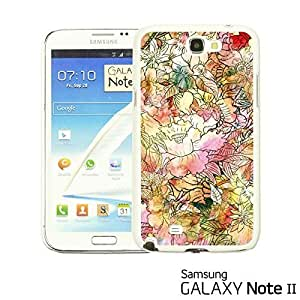 OnlineBestDigital - Flower Pattern Hardback Case for Samsung Galaxy Note 2 - Colorful Watercolor Flower