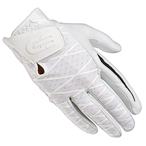Grip Boost Men's Right Hand Golf Glove Cabretta Leather Sheep Skin No-Slip Golf Gloves - Size Medium - White