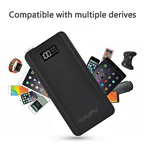 Power Bank 24000mAh Portable Charger Battery Pack 4 OutPut Ports Huge Capacity Backup Battery Compatible Smart Phone Almost All Android Phone And Others by KENRUIPU (Image #3)