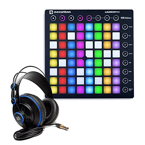 Novation Launchpad S MKII MIDI Controller for Ableton Live with PreSonus HD7 Studio Headphones by Novation
