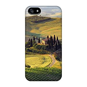 Protector Hard Phone Covers For Apple Iphone 5/5s With Allow Personal Design Nice Tuscan Summer Pictures MarieFrancePitre