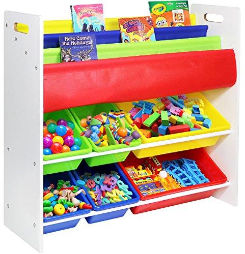 Galashield Toy Storage Organizer with Bins and Bookshelf