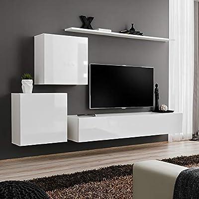 Kasalinea ALCEO 3 - Mueble de TV suspendido, Color Blanco: Amazon.es: Hogar