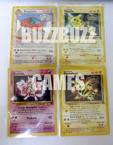 Pokemon Movie Promo Card Set of 4 Electabuzz, Dragonite, Pikachu, and - Set Movie Card Promo