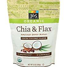 365 Everyday Value Organic Chia & Flax Ground Seed Blend, Cocoa Coconut Flavor, 12 oz