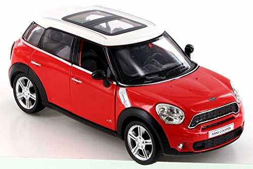 Red Mini Model - RMZ City Mini Cooper S Countryman, Red 555001 - Diecast Model Toy Car but NO Box
