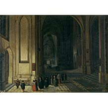 The high quality polyster Canvas of oil painting 'Neefs Pieter I Interior de una iglesia la ofrenda ' ,size: 10 x 14 inch / 25 x 35 cm ,this Beautiful Art Decorative Prints on Canvas is fit for dining Room decoration and Home decor and Gifts