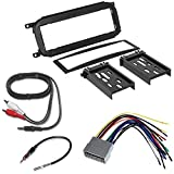 CHRYSLER 2002 - 2005 PT CRUISER CAR RADIO STEREO CD PLAYER DASH INSTALL MOUNTING TRIM BEZEL PANEL KIT + HARNESS + RADIO HARNESS+ MINI TO RCA 6F CABLE