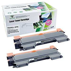 Supricolor TN450 TN420 Toner Cartridges High Yied (2 Pack), Use for Brother HL-2240d HL-2270dw HL-2280dw MFC-7360n MFC-7860dw Series Printer