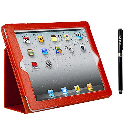 inShang iPad mini 4 Case for Apple iPad mini4 (Sep 2015 release) Book Folio Style With Auto Sleep Wake Function+1pc High end class business stylus Pen
