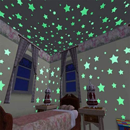 (100 of The Brightest Glow in The Dark Stars | Set with Adhesive Putty, Glow in The Dark Ceiling Star Stickers for Bedrooms)