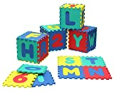 Click N Play Alphabet and Numbers Foam Puzzle Play Mat, 36 Tiles (Each Tile Measures 12 X 12 Inch for a Total Coverage of 36 Square Feet)