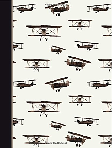 Composition Notebook: Watercolor Vintage Airplanes College Ruled Book Journal (140 Lined Pages / 70 Sheets) (7.44 x 9.69)