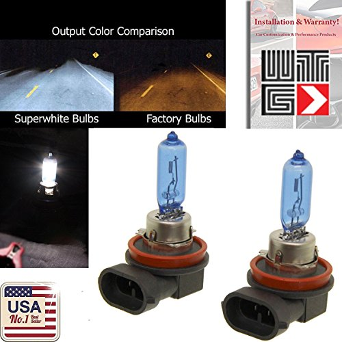 WTG H9 100W (High Beam) 1 PAIR Super White Xenon Halogen OEM Stock Headlight Lamp Light Bulbs