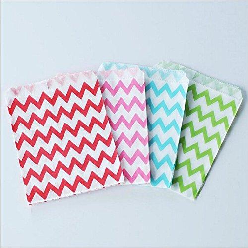 SwirlColor 50 pezzi di Colorful Ripple Candy Candy Paper Bag Zaino per i rifornimenti della festa nuziale