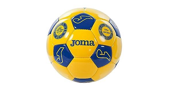 Joma Match T5 Fútbol Amarillo Azul – Balón de fútbol: Amazon.es ...