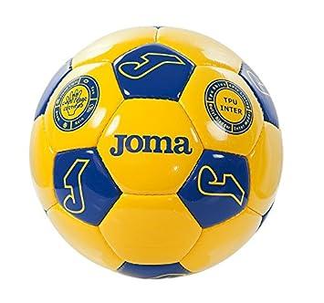 Joma Match T5 Fútbol Amarillo Azul - Balón de fútbol: Amazon.es ...