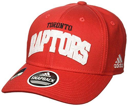 NBA Toronto Raptors Women's Flashy Sequinced Wordmark Structured Adjustable Hat, Red, One Size