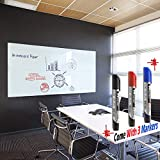 Whiteboard Paper, Dry Erase Contact Wall Decal, Adhesive Backing Contact Sticker Roll, Durable Easy to Apply, for Kids Home Office,130X18 Inch