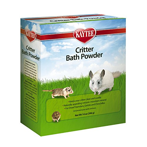 Kaytee Critter Bath Powder for Pets Ceramic Chinchilla House