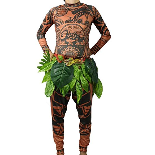 Amazon.com : Moana Maui Tattoo T Shirt/Pants Halloween Adult Mens Women Cosplay Costume(XL) : Sports & Outdoors