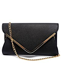 Womens Faux Leather Evening Clutch Purses Shoulder Bag for Wedding Party Prom,Envelope.