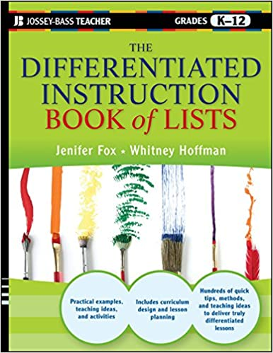 The Differentiated Instruction Book Of Lists Jenifer Fox Whitney