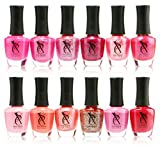 Nail Polish for Babies SXC Nail Polish Pink Lacquer 15ml/0.5fl set of 12 Colors lot, Perfect Gift for Baby Shower