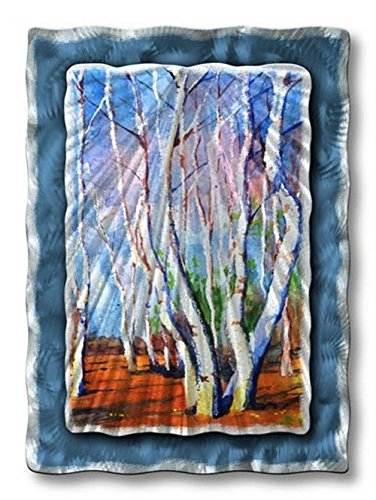 birch tree metal wall art modern home decor metal wall sculpture contemporary wall