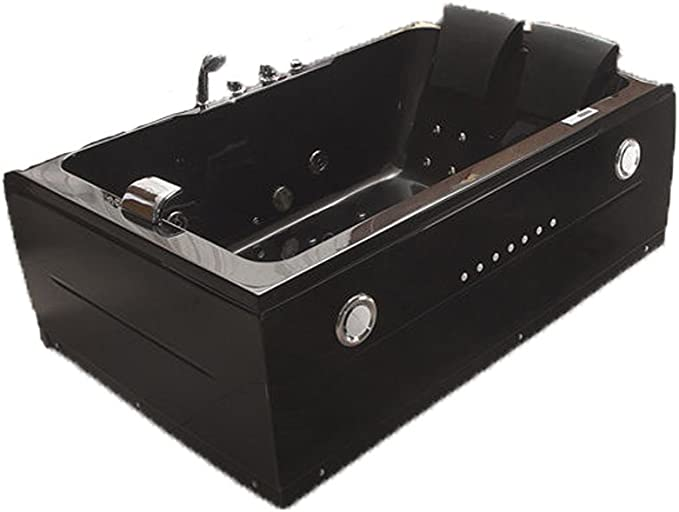 2 Two Person Indoor Whirlpool Massage Hydrotherapy Black Bathtub Tub With Bluetooth Upgrade Free Remote Control And Water Heater Amazon Ca Tools Home Improvement
