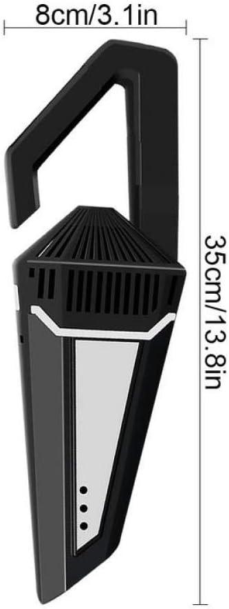 Newle 5000pa Aspirateur de Voiture 1200W avec Sac à Main sans Fil de Charge d\'alimentation cyclonique Humide/Sec Automatique aspirateurs Portables poussière, Noir Black