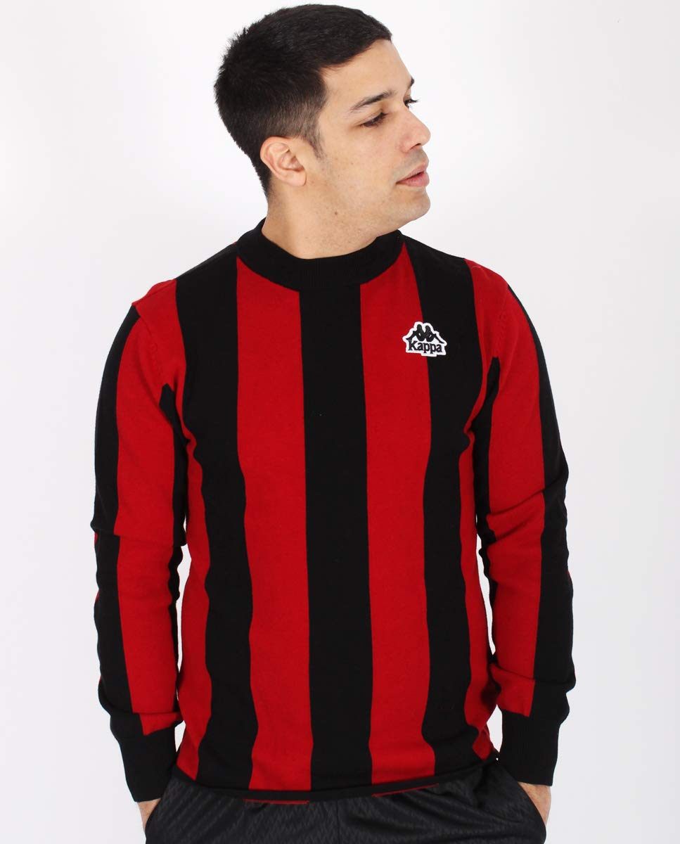 TALLA S. Kappa Ayrone Auth Jumper Jersey, Hombre, Red dk/Black, S