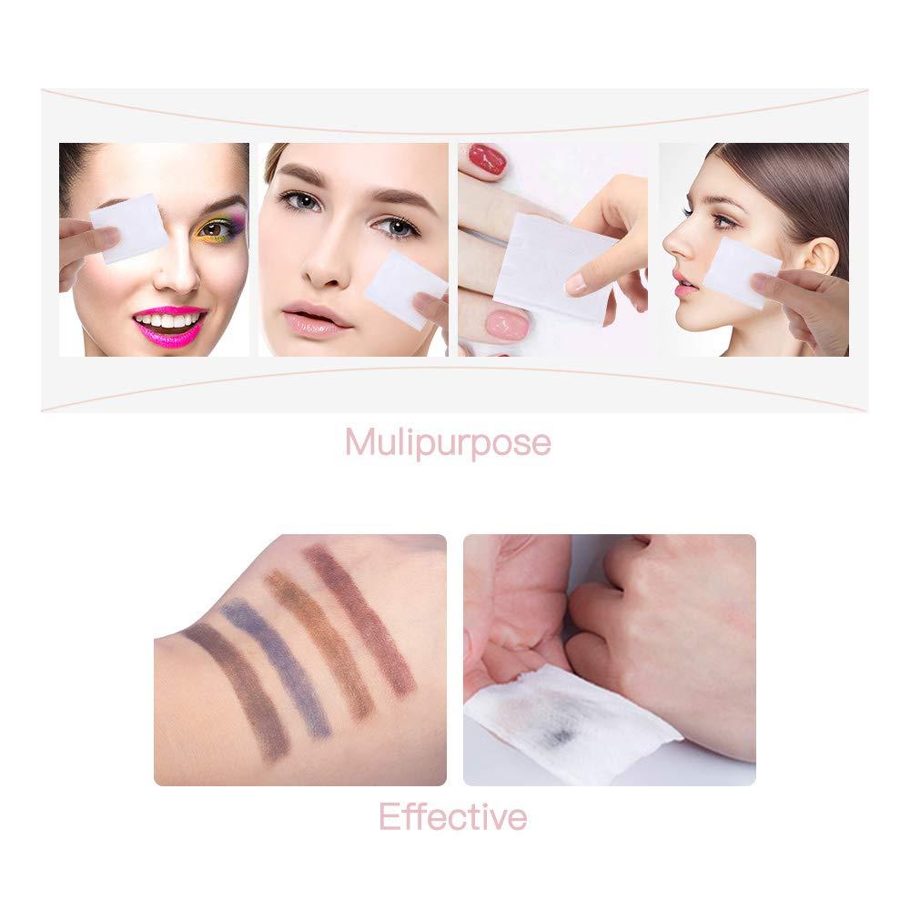 Lameila 150 St/ück fusselfreie Baumwoll-Pads doppelseitig Entfernung und Nagellack Make-up-Baumwolle f/ür Gesichts-Make-up 100/% nat/ürliche Baumwolle