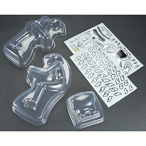 DuraTrax Rider & Decal Set Clear DX450 - Set Duratrax Decal