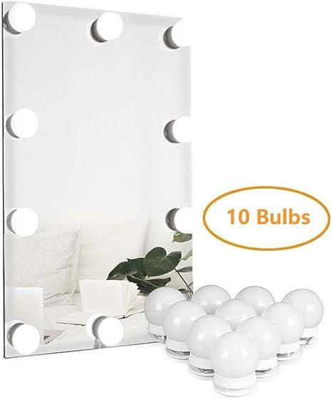 Amazon.com: Runoob - Espejo de tocador con luz LED estilo ...