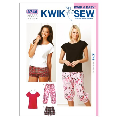 Kwik Sew K3746 Bloomers and Top Sewing Pattern, Size XS-S-M-L-XL -