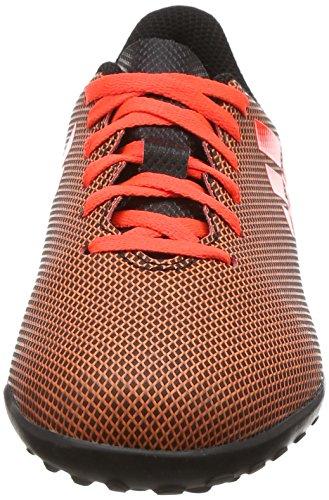 adidas X 17.4 TF J, Botas de Fútbol Unisex Niños Negro (Negbas/Rojsol/Narsol)