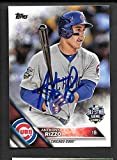 Anthony Rizzo autographed signed 2016 Topps auto card Chicago Cubs - - (Near Mint Condition)