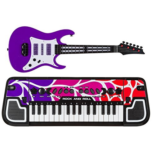 Music Band Toy Musical Instruments for Children Electronic Keyboard Kids with Toy Electric Guitar Bundle Set (Keyboard)