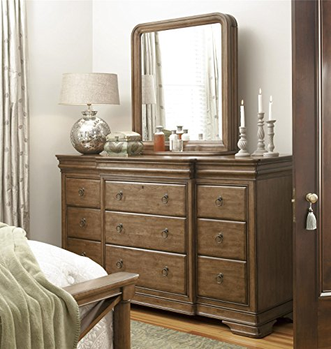 Pennsylvania House Solid Wood Triple Dresser with Storage Mirror